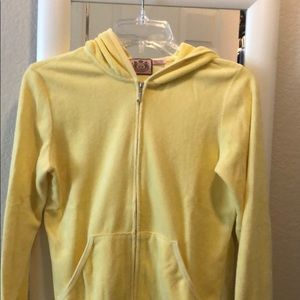 Yellow terry cloth hoodie